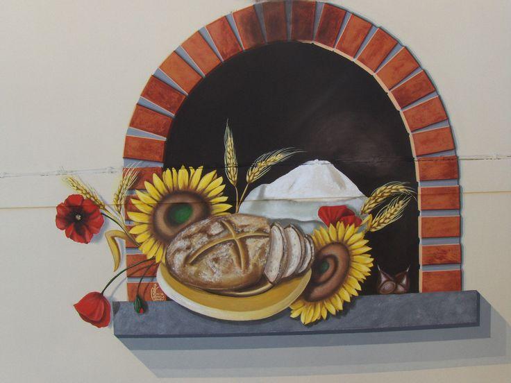 muro esterno, forno