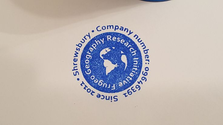 The brand new company stamp produced with the Trodat printy stamper (2016)