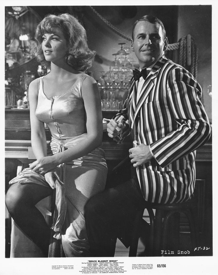 Tina Louise & Paul Lynde: 'Beach Blanket Bingo' 1965  /  Tina Louise from Gilligan's Island fame and the comic of all comics, Paul Lynde, a gay man. This man could make me laugh out loud.