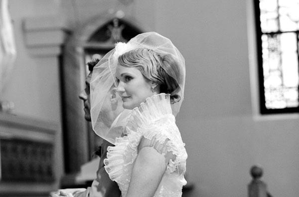 Véu gaiola a condizer com o vestido de noiva. #casamento