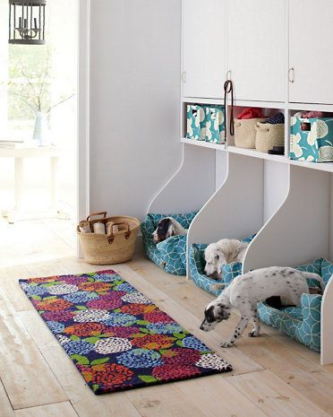 Love the dog cubbies and wide planked floor!