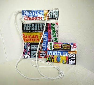 Candy Wrapper Bag & Wallet. This might be a good pre-teen & teen activity for a library program. Seems inexpensive too!