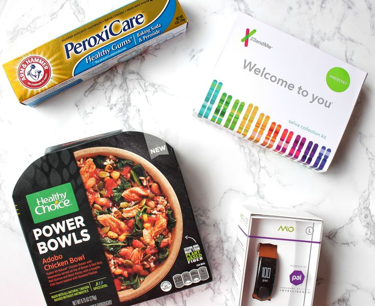 New on the blog: my review of a special Women's Health box (featuring Healthy Choice, 23andMe, Arm & Hammer, Mio Global) #BBWomensHealth #sp