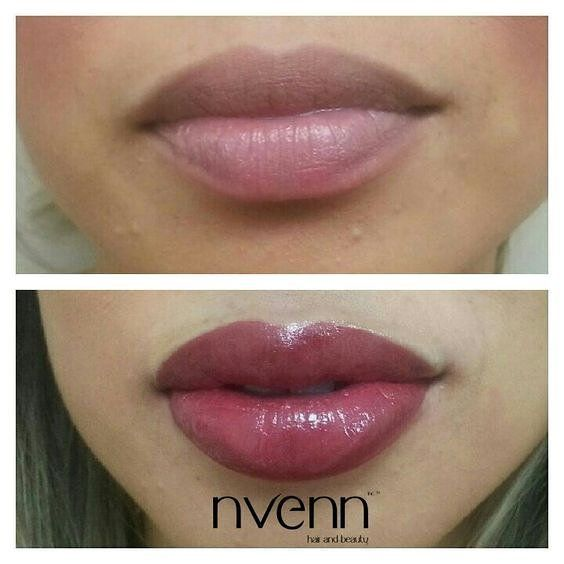 looking for LONG LASTING lip color? we've got you covered :) make an app at our #yeg or #yyc location <3  #permemnantmakeup #mua #yycmua #yegmua #beauty #style #nvennhairbeautybar #stylists