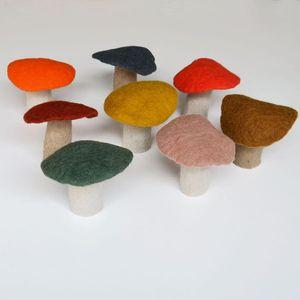 big felt mushroom: Felt Mushrooms, Craft, Mushroom Fun, Inspiration, Felted Woolies, Felt Better, Mushrooms Funghi, Diy Stuff