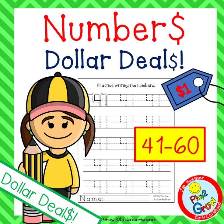 41-60 Practice Writing Numbers