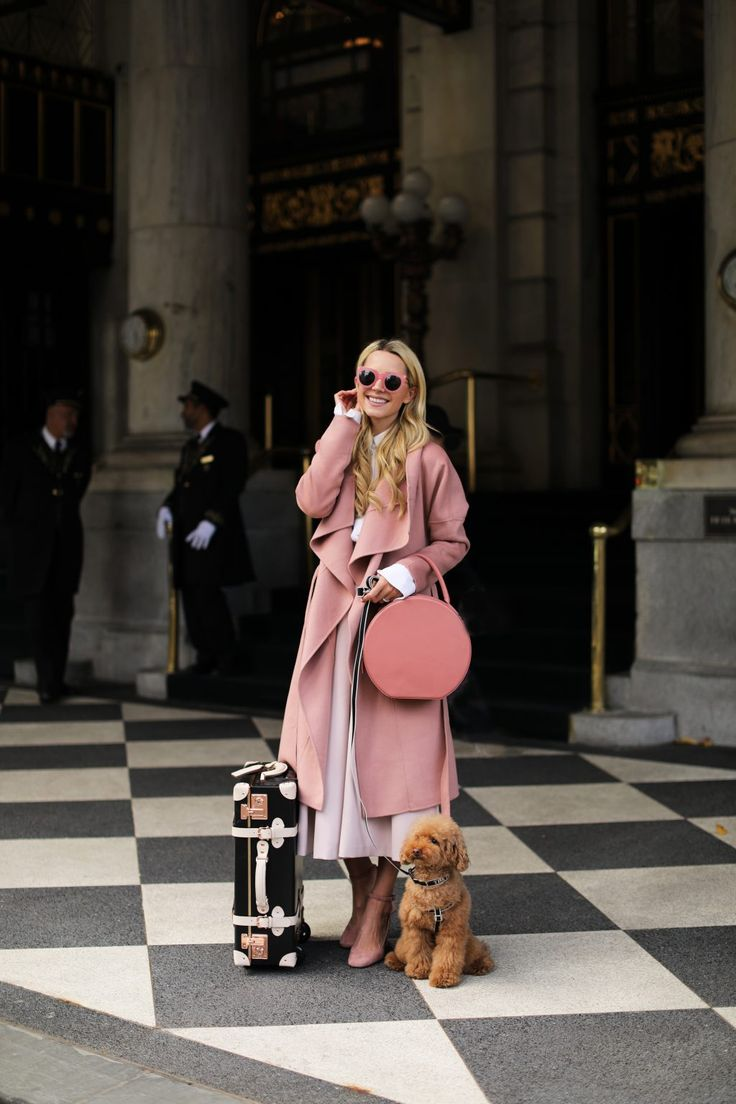 Pretty in pink!  Arriving at The Plaza Hotel in NYC.