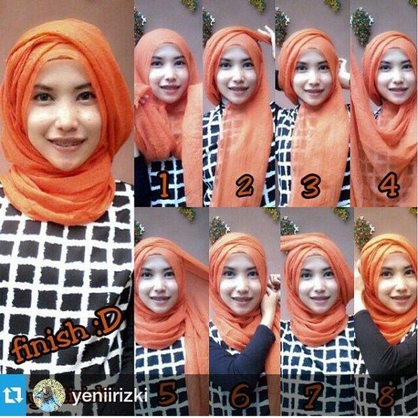 Pashmina hijab tutorial ♥ Muslimah fashion & hijab style by june
