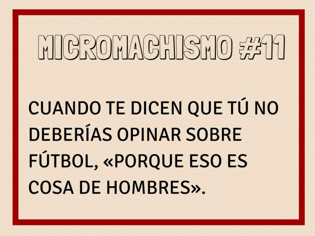 Micromachismo #11