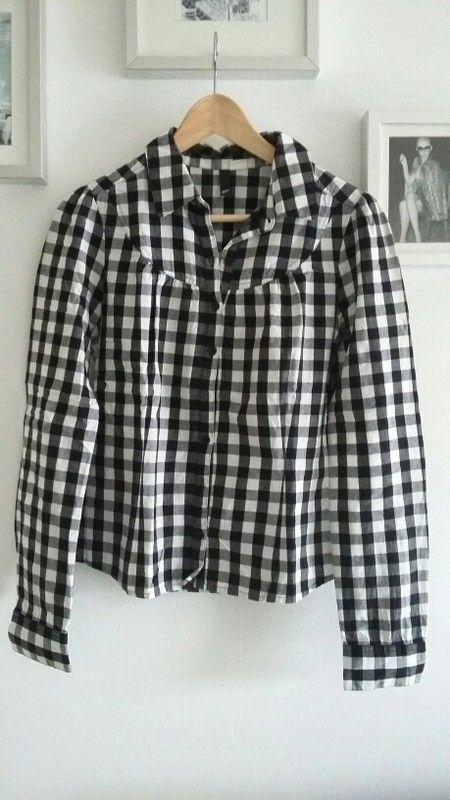Süse Bluse in schwarz-weiß Größe 40