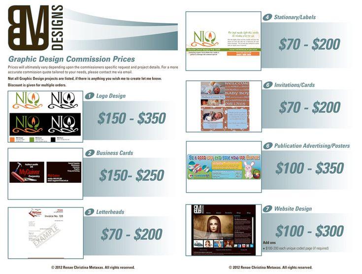 Price list graphic design