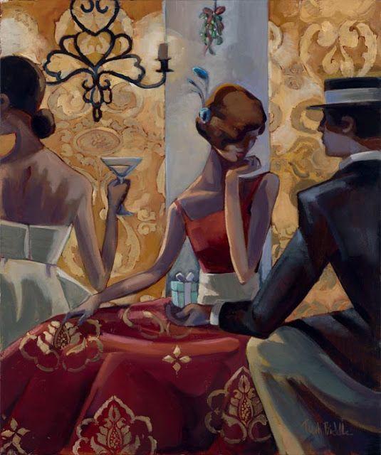Il mondo di Mary Antony: Trish Biddle .Arte figurativa, arte decò