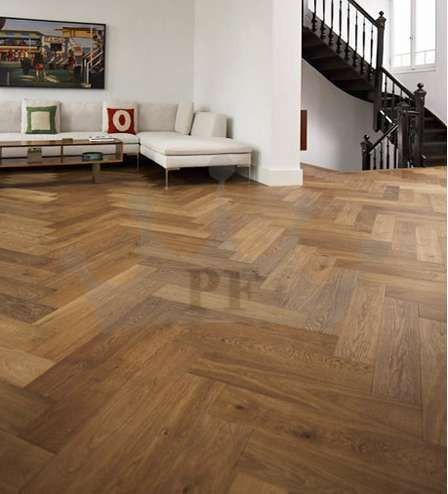 Richmond Engineered Herringbone Click Parquet Oak 148mm x 15mm Fumed Oiled Wood Flooring Only £42 On http://bit.ly/1MtksBK