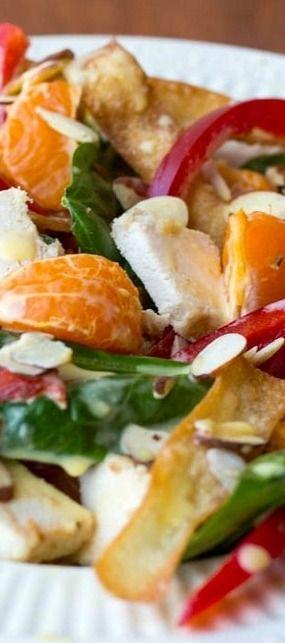 Asian Chicken Wonton Salad
