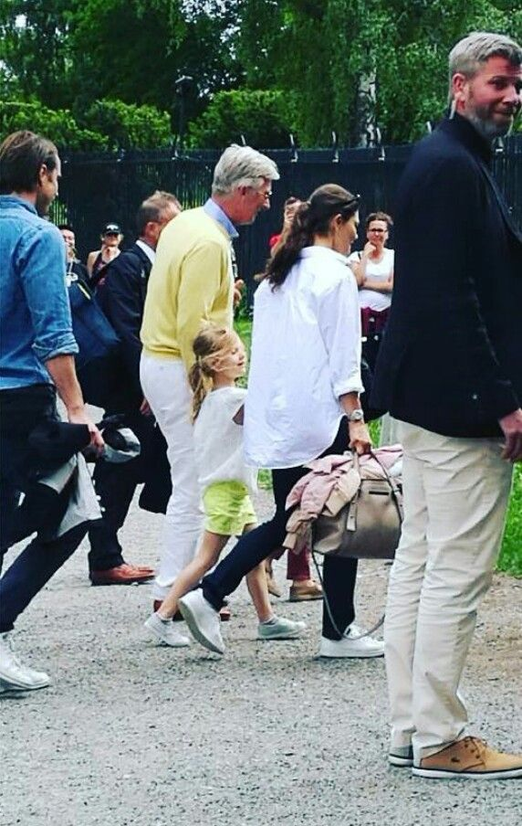 Crown Princess Victoria and Princess Estelle on Haga Park, 11 june 2017  http://www.swedish-princesses.pl/