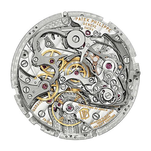 Patek Philippe CHR 29-535 PS Q. This movement, Caliber CHR 29-535 PS Q was developed in-house by Patek Philippe.