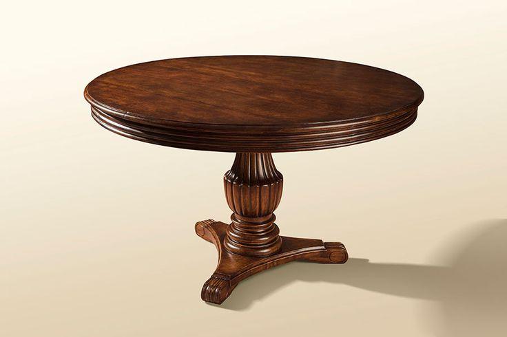 Round Cedar Table H 28 in. x W 56 in. x D 56 in.