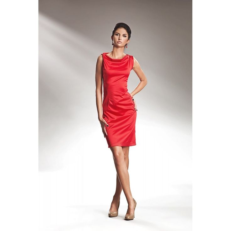 Czerwona sukienka na wesele S15 - Sklep Dotti.pl