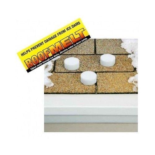 ROOF MELT Calcium Chloride Tablets De Ice Gutter Roof Damage Garage Water  Drain