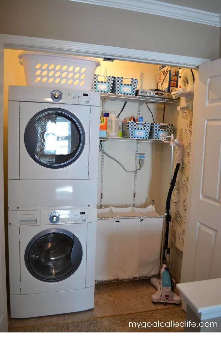 Best 25 small laundry closet ideas on pinterest laundry room small ideas laundry closet and - Small space washing machines set ...