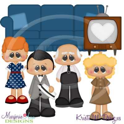 I Love Lucy SVG Cutting Files Includes Clipart