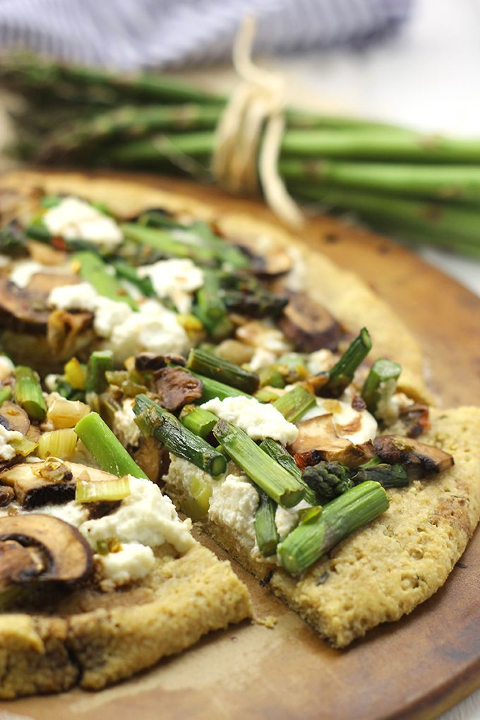 and Ricotta Pizza! Topped with fresh veggies on a grain-free, almond ...