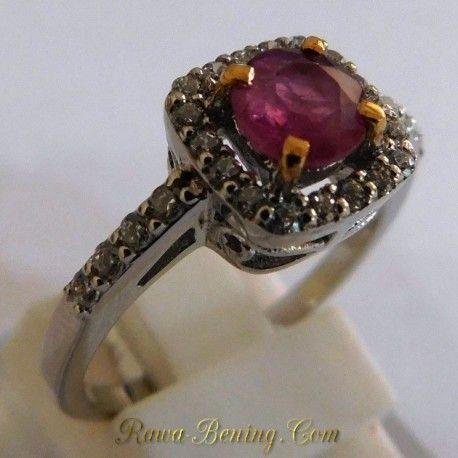 Big Promo Cincin Wanita!!  Silver, Batu Permata Ruby (Asli) Ukuran Ring 15. Info: http://goo.gl/ER9kSW Order cepat: 0888 1 6262 52 (WhatsApp/Call) Video: https://youtu.be/sT0G8shiPeI Melayani Pembeli dari Seluruh Indonesia.