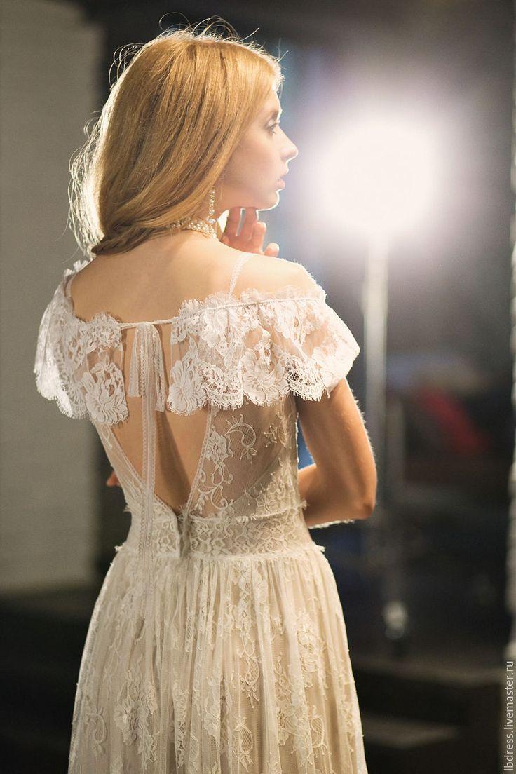 Sofia - белое свадебное платье, богемное платье, свадебное платье, декольте