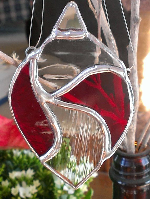 Stained Glass Christmas Ornament Stained Glass,Leaded Glass and