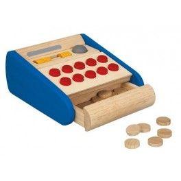 Caja registradora de Plantoys http://pekaypeke.com/es/juegos-de-imitacion/17-caja-registradora.html