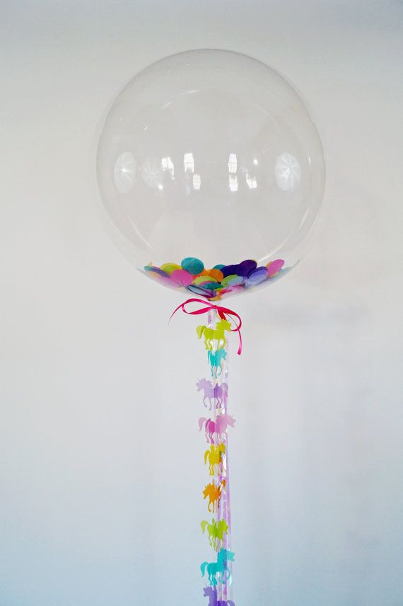 Hey, I found this really awesome Etsy listing at https://www.etsy.com/listing/218684752/clear-confetti-unicorn-balloon