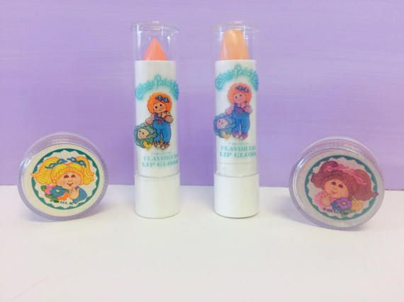 Vintage Cabbage Patch Kids Lip Gloss Set 1980s Cabbage