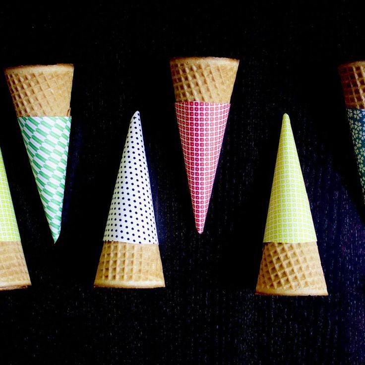 Origami Ice Cream Cone Sleeves on Food52