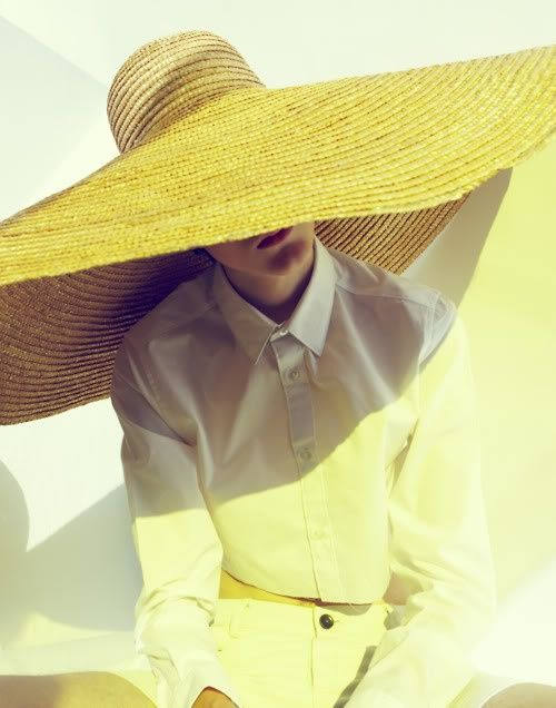 Save yourself from the sun, and add a little drama to your summer wardrobe. A wide brim straw hat magically adds glamour to any warm weather outfit.