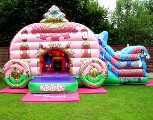Princess carriage bouncy house