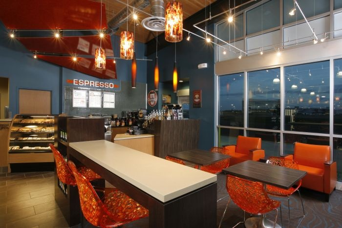 landing convenience store interior coffee bar interior design