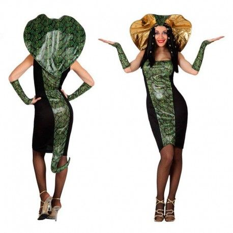 Disfraz de mujer serpiente, cobra, vibora. Disfraces de animales para chicas divertidas y originales