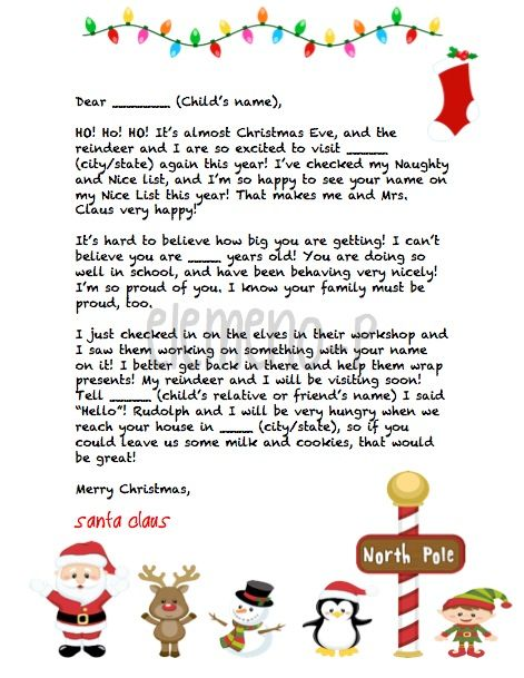 8 best Santa letters images on Pinterest | Letter from santa ...