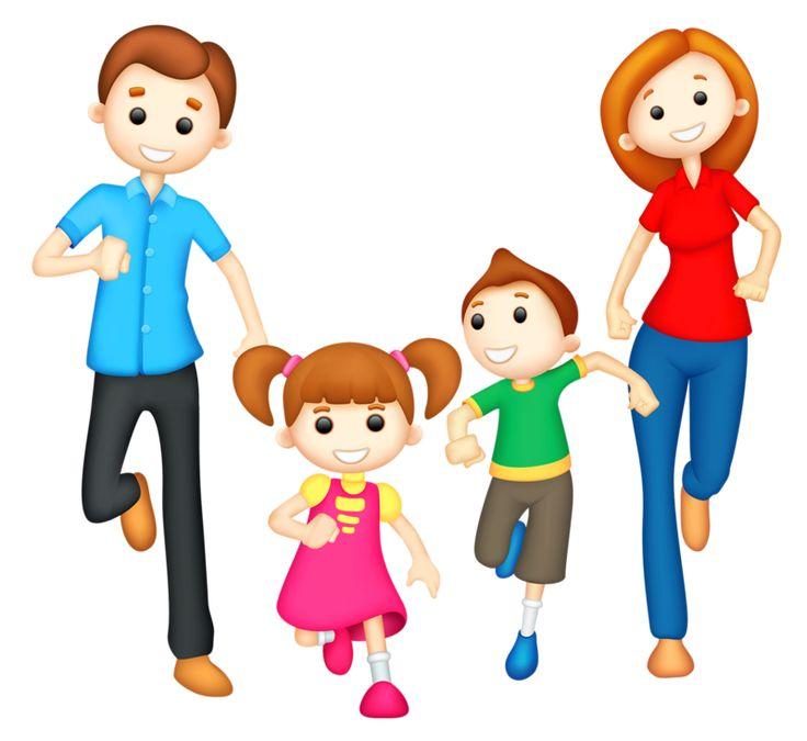Dad - daughter - son - mom