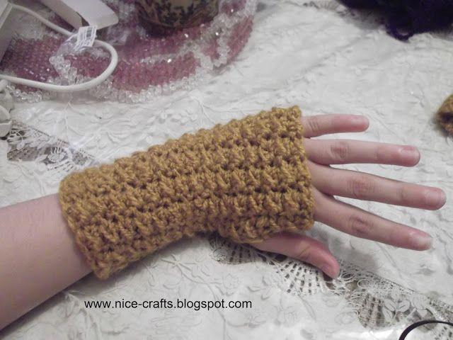 Nice Crafts كيفية صنع قفاز بدون أصابع بالكروشيه Arm Warmers Fingerless Fingerless Gloves