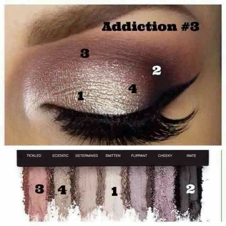 Recreate this gorgeous look with addiction pallette number 3.