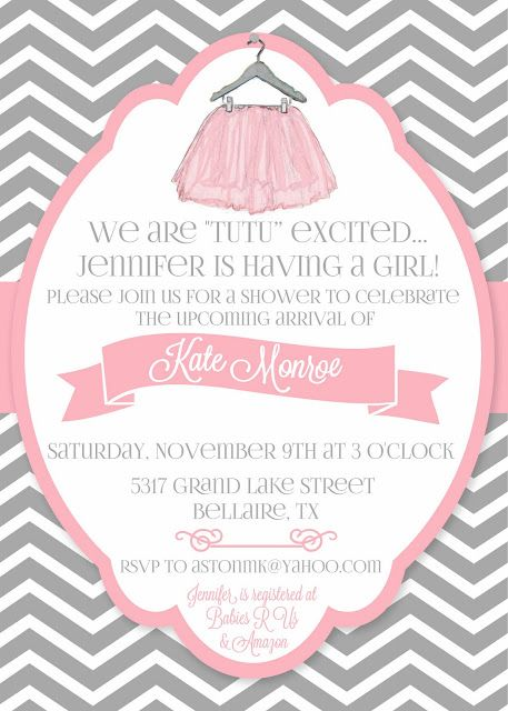 """Daily Dimples: """"Tutu"""" cute Baby Shower                                                                                                                                                      More"""