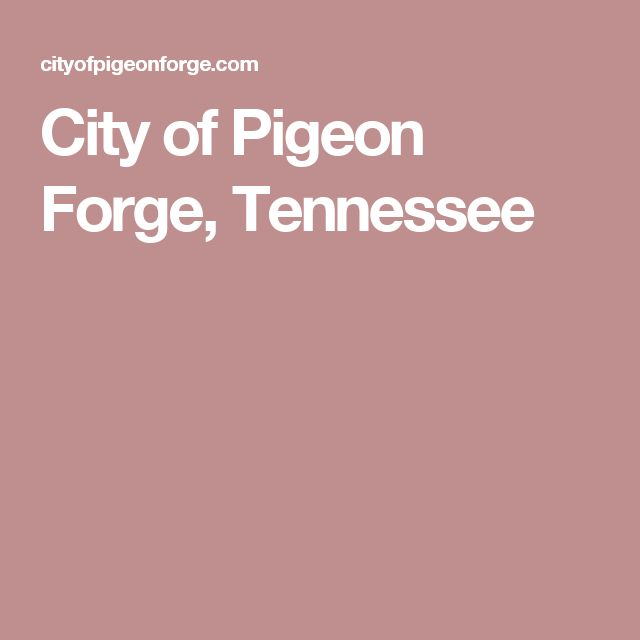 City of Pigeon Forge, Tennessee