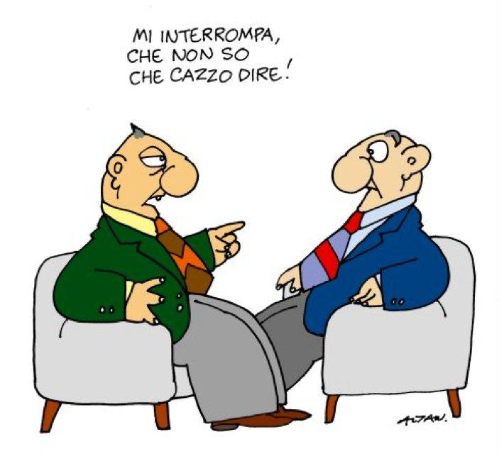 13/1/2011. Il talk show politico riletto da Altan.