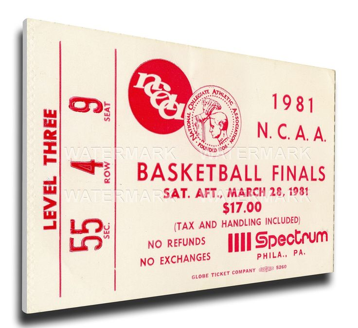 Indiana Hoosiers Wall Art - 1981 NCAA Basketball Finals Canvas Mega Ticket