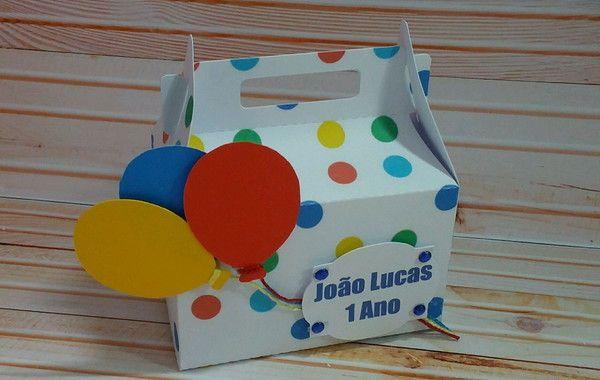 Caixa Maletinha Festa Das Cores Bolas Coloridas Festa
