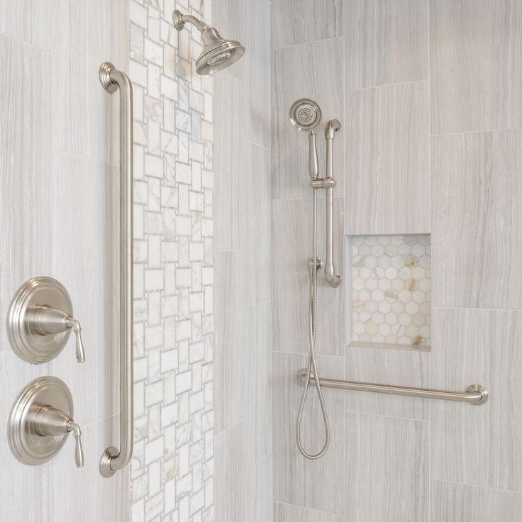 Image Result For Grab Bar Shower Head Holder Shower Tile Shower