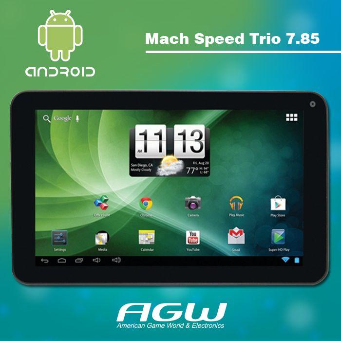 """Prueba la nueva velocidad de Mach Trio Sigilo G4 7,85 """"HD Tablet . Esta nueva tableta viene con una pantalla táctil HD, su procesador Quad Core hace simple y rápido abrir tus aplicaciones y navegar en internet sin tener que preocuparte por congelación; que está hecha para hacer multitareas, incluye 8 GB de almacenamiento, ¿Quieres tomar una Autofoto? incluye una cámara frontal y trasera en la parte, que le permite tomar las mejores imágenes y fotos. Compre su Mach Speed Trio Sigilo Tablet…"""