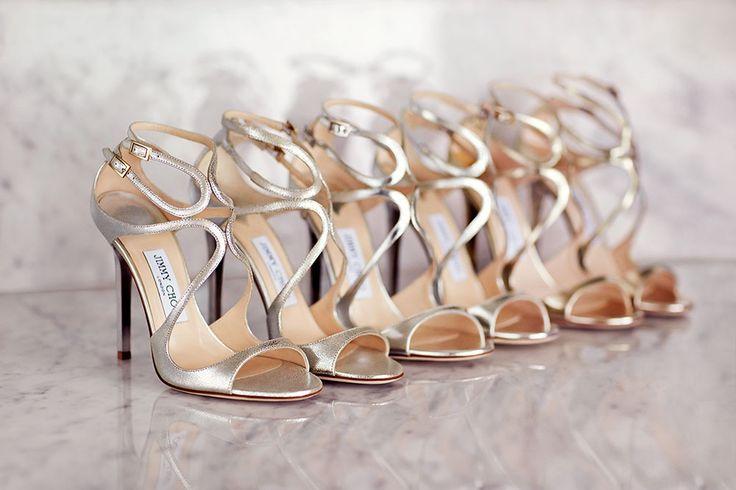 Brautschuhe in Metallic-Farben sind 2016 Trend