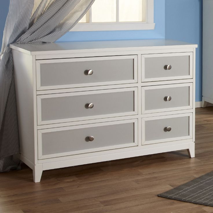 Pali Treviso Two Tone Double Dresser In White Grey